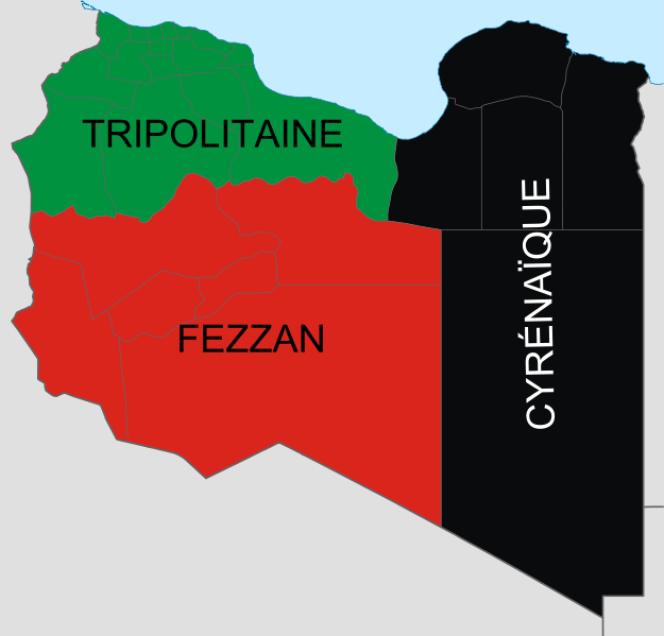 Les trois provinces traditionnelles de Libye.