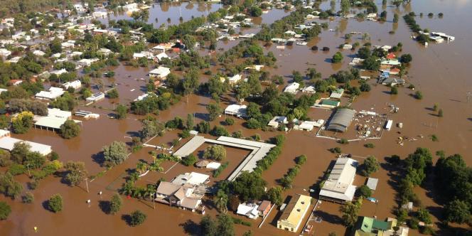 Les inondations au nord de la ville de Wagga Wagga, en Nouvelle-Galles du Sud.