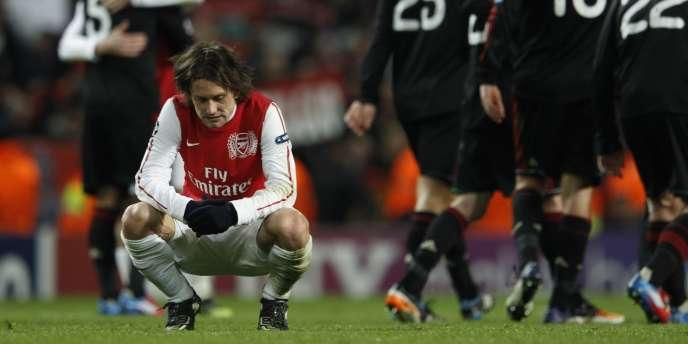 A l'image de Tomas Rosicky, Arsenal pourra méditer sur la faiblesse du match aller des Gunners, qui les prive de quarts de finale.