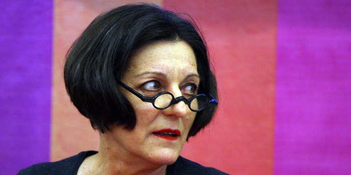 La romancière allemande, Prix Nobel de littérature en 2009, Herta Müller, à Guadalajara (Mexique) en novembre 2011.