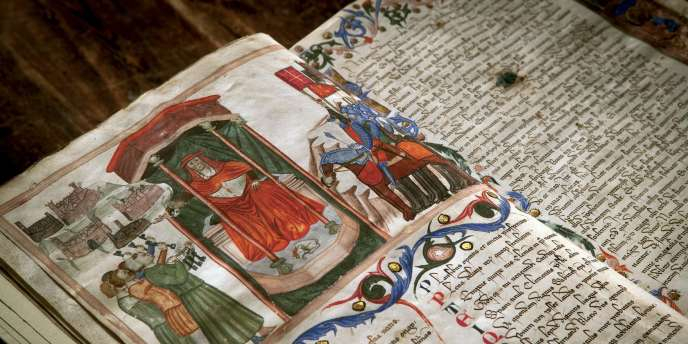 Registre des serments de fidélité au pape Innocent VI où figurent les mesures politiques et militaires du cardinal Gil de Albornoz (XIVe siècle).