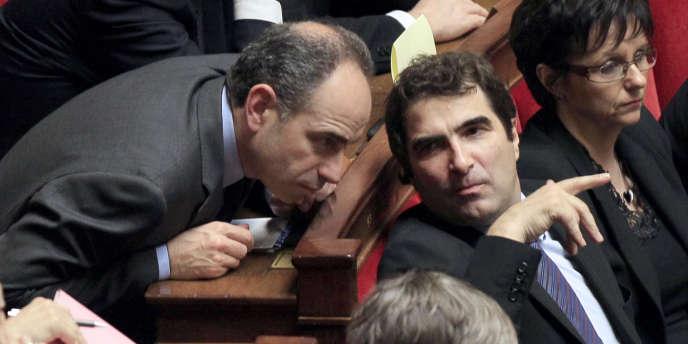 Jean-François Copé (à gauche) estime qu'il revient au président de la République de