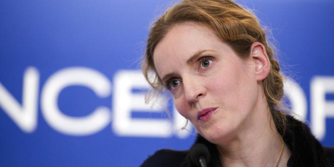 Nathalie Kosciusko-Morizet, lors d'une conférence de presse, le 7 mars 2012.