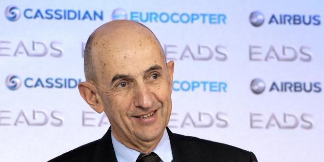 En 2011, le bénéfice net du groupe aéronautique européen EADS a atteint 1,033 milliard d'euros, soit une progression de 87 % - ici, Louis Gallois lors de la présentation des résultats à Paris, le 8 mars 2012.