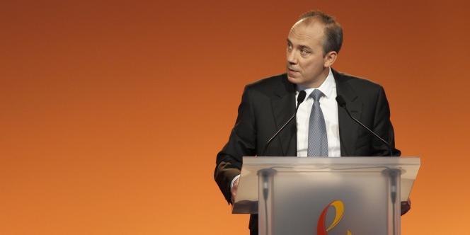 Stéphane Richard, PDG de France Télécom-Orange. Communiquer autour d'Orange pourrait permettre de rajeunir l'image de l'ex-monopole.