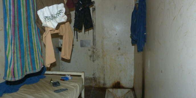 Une cellule du centre pénitentiaire de Polynésie française.