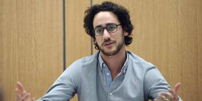 Thomas Hollande, lors du lancement du club de réflexion