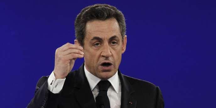 Nicolas Sarkozy, à Villepinte, le 11 mars.