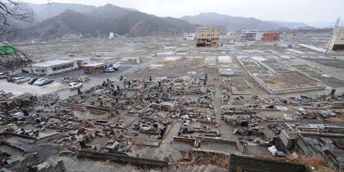 Un an après le tsunami, dans la préfecture d'Iwate, le 10 mars 2012.