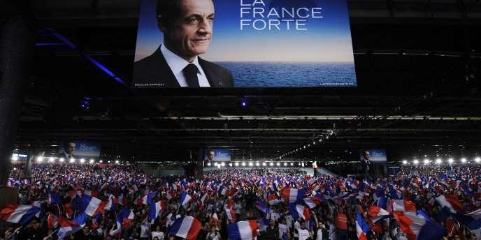 Meeting de Nicolas Sarkozy au parc des expositions de Villepinte, dimanche 11 mars.