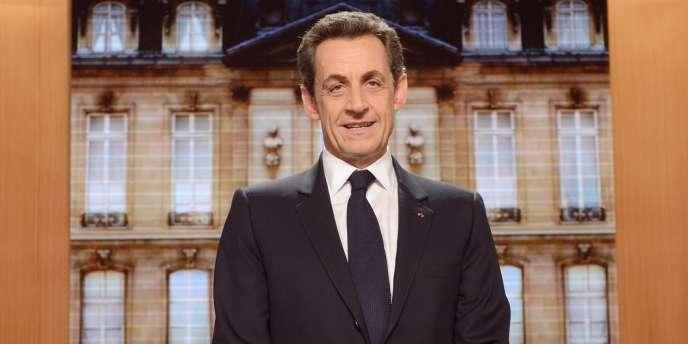 Nicolas Sarkozy sur le plateau de l'émission