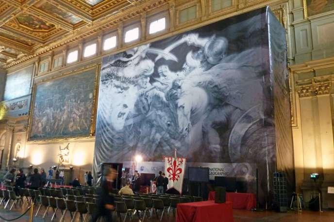Une reproduction de la fresque disparue de Léonard de Vinci,