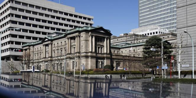 Vue de la Banque du Japon, le 13 mars 2012.
