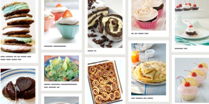 Une page consacrée aux recettes sans gluten, sur le site pinterest.com