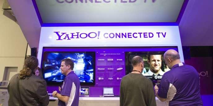 Un stand de Yahoo! au Consumer Electronic Show de Las Vegas, le 7 janvier.