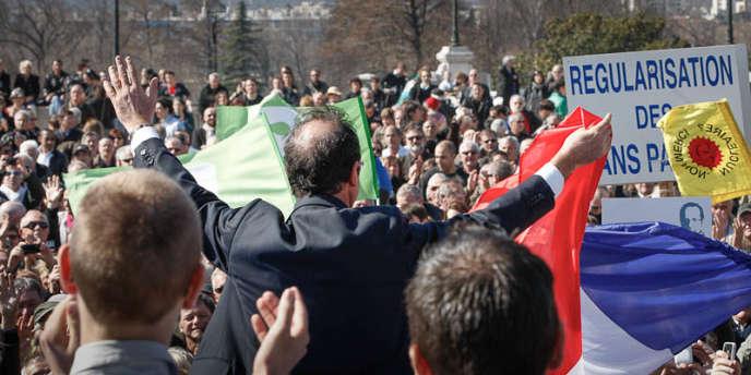 François Hollande, à Valence, le 13 mars 2012.