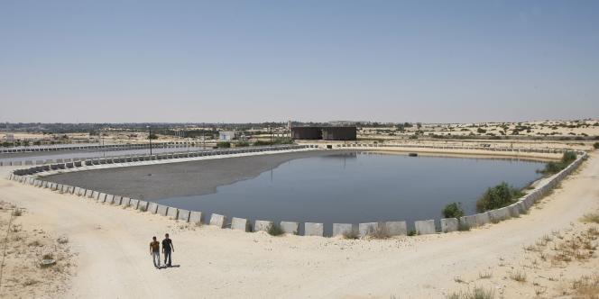 Une installation de traitement de l'eau, à Rafah, dans le sud de la bande de Gaza, le 20 juin 2011.