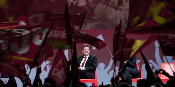 Meeting du candidat du Front de gauche au Zénith d'Auvergne à Cournon, le 14 mars.