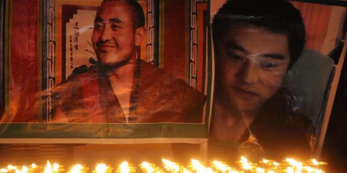 Portraits de Tibétains qui se sont immolés par le feu.