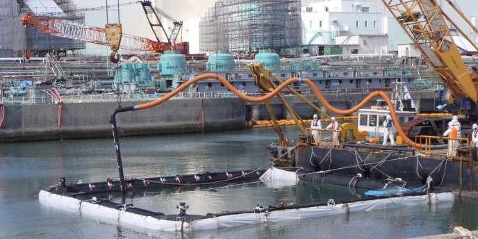 Vue de la centrale de Fukushima, le 13 mars 2012.
