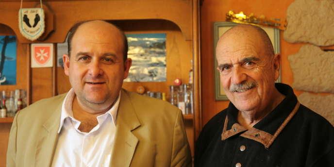 Christian et Julien Fenech au domicile de Christian, à Cassis.