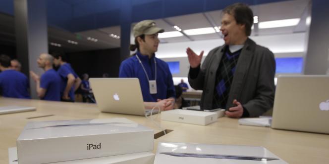 Lancement du nouvel iPad, à San Francisco, le 16 mars 2012.