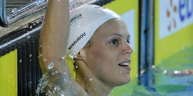 Laure Manaudou au championnat de France de natation le 20 mars à Dunkerque.