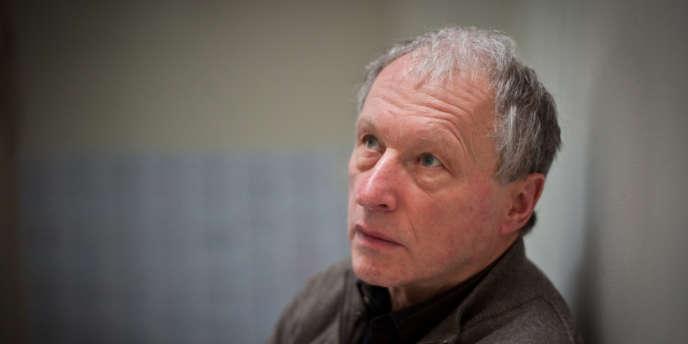 Le dramaturge et metteur en scène Valère Novarina à Paris en janvier 2011.