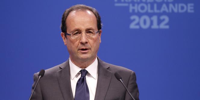 François Hollande à son QG de campagne, le 22 mars 2012.