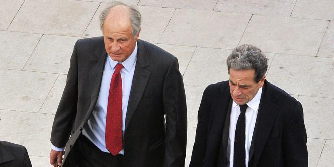 Patrice de Maistre et son avocat Pierre Haïk, arrivent à Bordeaux, le 22 mars à Bordeaux.