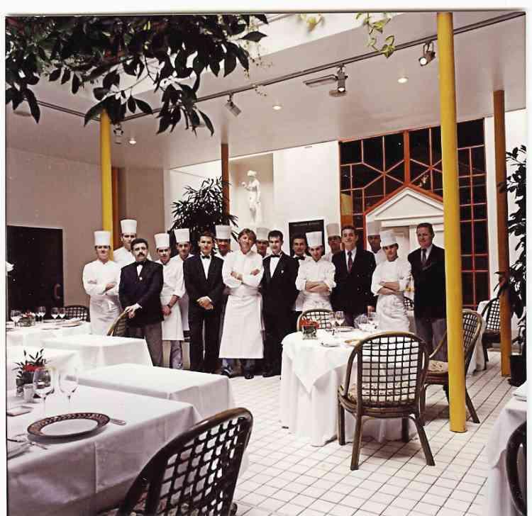 """""""Mon premier restaurant, lancé en 1981 à Saint-Étienne. J'y ai déliré  pendant onze ans. Certains de mes chefs  de l'époque sont encore avec moi."""" -"""