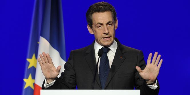Nicolas Sarkozy lors d'un discours à Rueil-Malmaison, le 24 mars 2012.
