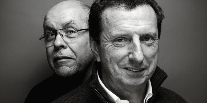 Pierre Botton  (au premier plan) et Charles Roche,  le surveillant chef qui lui a, dit-il,