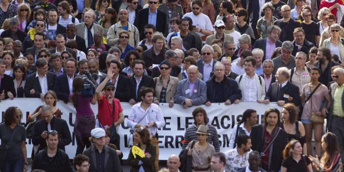 Marche contre le racisme et l'antisémitisme, le 25 mars à Paris.