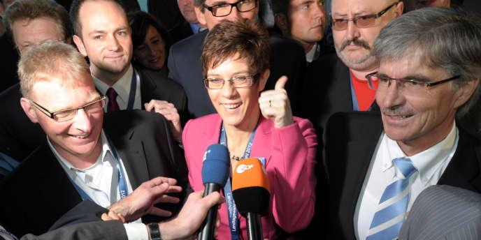 Annegret Kramp-Karrenbauer, tête de liste de la CDU en Sarre.