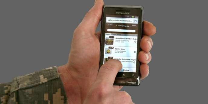 Démonstration du magasin d'applications mobiles de l'armée américaine.