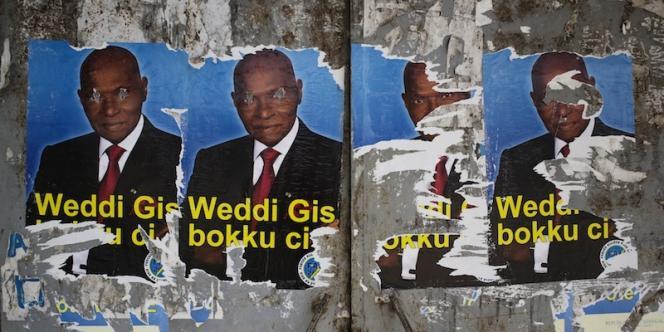 Affiches pro-Wade dans les rues de Ziguinchor, en Casamance.