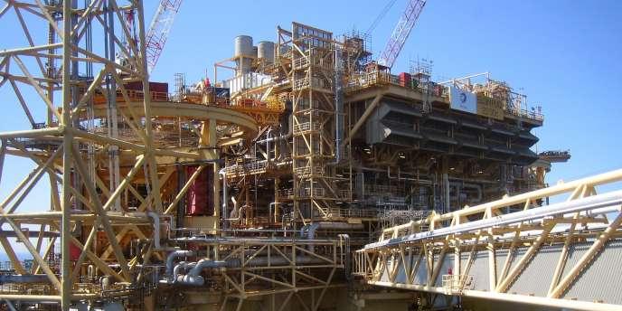 La plateforme d'exploitation d'hydrocarbures de Elgin-Franklin de Total, en mai 2009.
