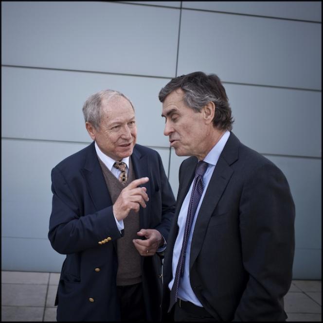 Jean Peyrelevade et Jérôme Cahuzac pendant la campagne présidentielle.