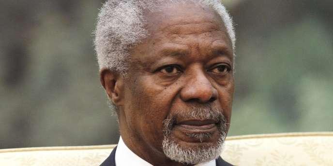 Kofi Annan, envoyé spécial conjoint des Nations unies et de la Ligue arabe pour la Syrie est arrivé à Damas, dimanche.