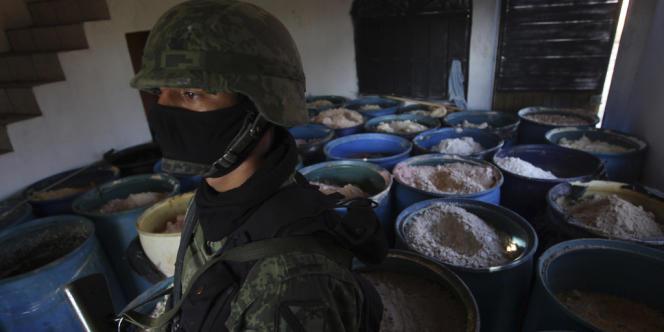 Dans l'ouest du Mexique, en février, l'armée a saisi 15 tonnes de méthamphétamine, l'équivalent de la moitié des saisies réalisées à travers le monde en 2009.