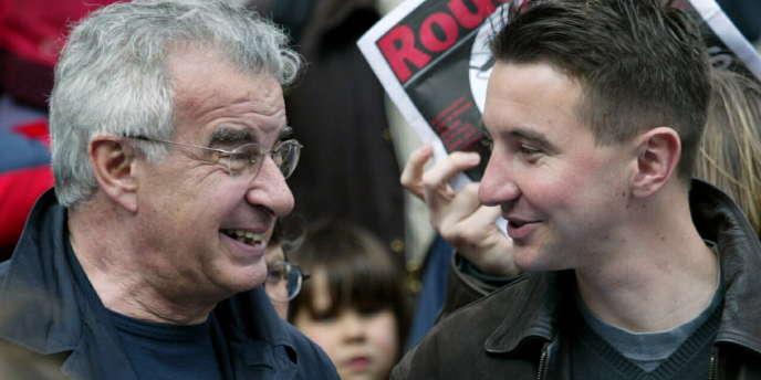 Alain Krivine et Olivier Besancenot, le 3 avril 2004.