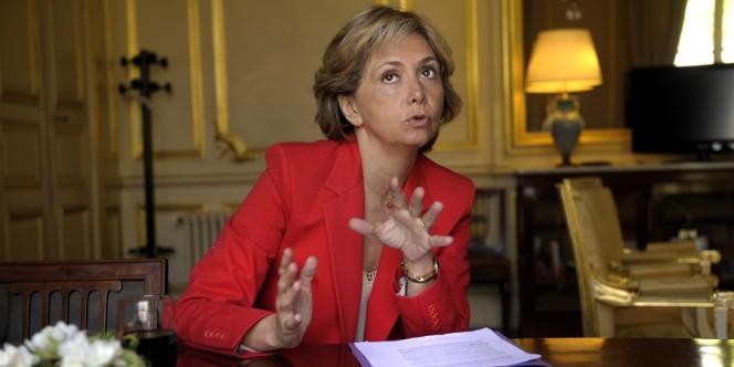 Valérie Pécresse, le 29 mars, à Paris.