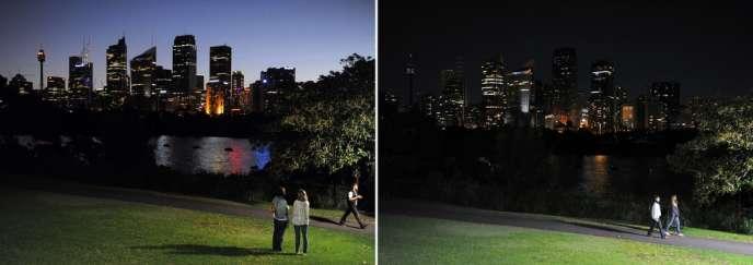 Des millions de terriens vont éteindre samedi leurs lumières pendant une heure sur toute la planète en signe d'engagement pour lutter contre le réchauffement climatique.