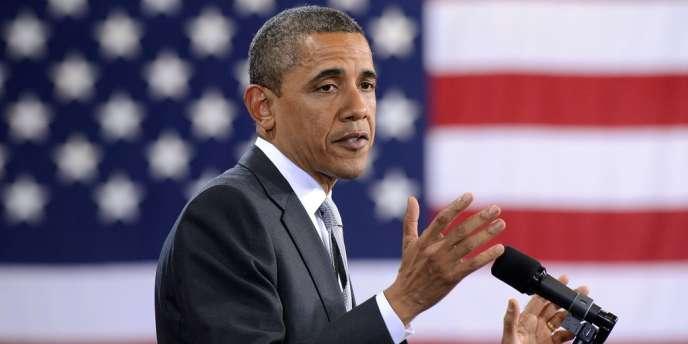 Le président américain, Barack Obama, lors d'un discours à Portland, le 30 mars.