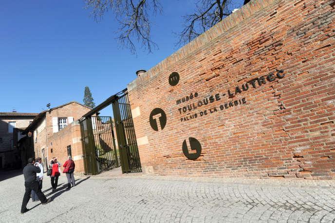 Entrée du Musée Toulouse-Lautrec au Palais de la Berbie à Albi, le 15 mars 2012.