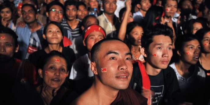 A Rangoun, dimanche soir 1er avril.