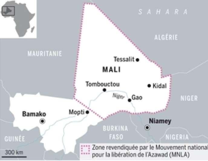 L'avancée des rebelles maliens.