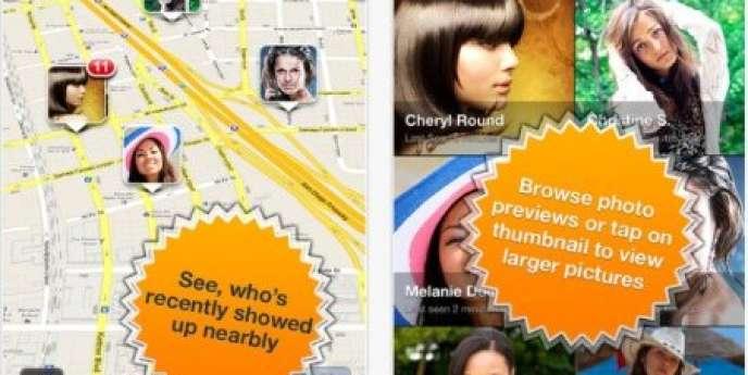 L'application créait des cartes géolocalisées à partir d'informations publiques sur les réseaux sociaux.