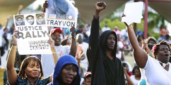 Manifestation réclamant justice pour Trayvon Martin et arrestation de son meurtrier, le 1er avril 2012, à Miami.